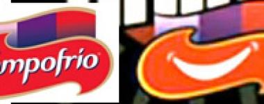 El logo de la marca y parte del logo del programa que patrocina...